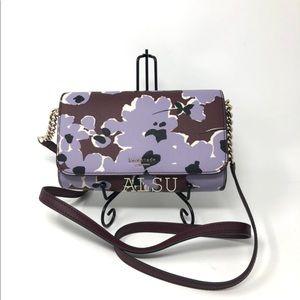 Kate Spade ♠️ Small Flap Crossbody Wild Flowers